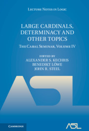 Large Cardinals, Determinacy and Other Topics