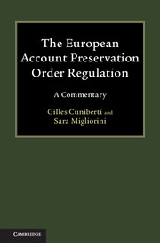 The European Account Preservation Order Regulation