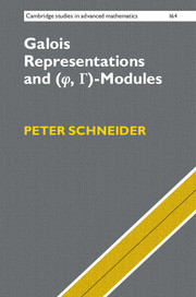 Galois Representations and (Phi, Gamma)-Modules