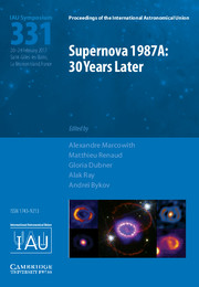 Supernova 1987A: 30 Years Later (IAU S331)