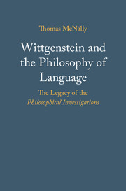 Book Cover for Wittgenstein and the Philosophy of Language: The Legacy of the Philosophical Investigations