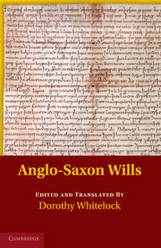Anglo-Saxon Wills