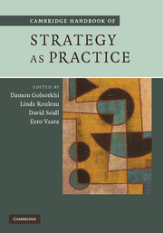 Cambridge Handbook of Strategy as Practice