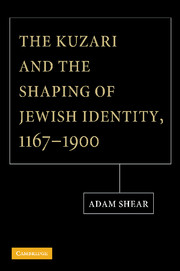 The Kuzari and the Shaping of Jewish Identity, 1167–1900