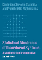 Statistical Mechanics of Disordered Systems