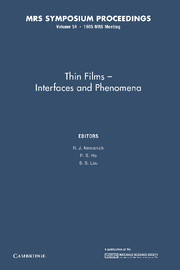 Thin Films — Interfaces and Phenomena