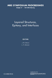 Layered Structures, Epitaxy, and Interfaces