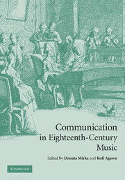 Communication in Eighteenth-Century Music