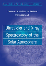 Ultraviolet and X-ray Spectroscopy of the Solar Atmosphere