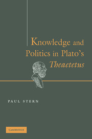 Knowledge and Politics in Plato's Theaetetus
