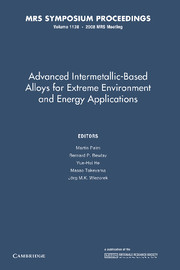 Advanced Intermetallic-Based Alloys for Extreme Environment and Energy Applications
