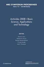 Actinides 2008 — Basic Science, Applications and Technology
