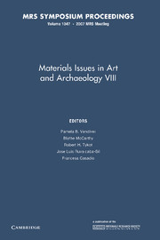 Materials Issues in Art and Archaeology VIII