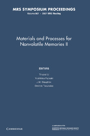 Materials and Processes for Nonvolatile Memories