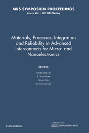 Materials, Processes, Integration and Reliability in Advanced Interconnects for Micro- and Nanoelectronics