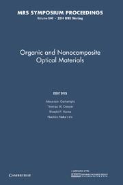 Organic and Nanocomposite Optical Materials