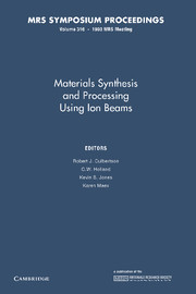 Materials Synthesis and Processing using Ion Beams