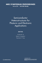 Semiconductor Heterostructures for Photonic and Electronic Applications