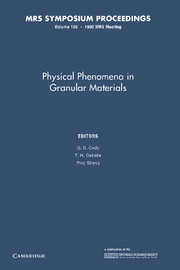 Physical Phenomena in Granular Materials
