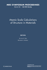 Atomic Scale Calculations of Structure in Materials