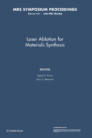 Laser Ablation for Materials Synthesis