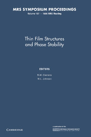 Thin Film Structures and Phase Stability