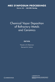 Chemical Vapor Deposition of Refractory Metals and Ceramics