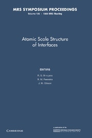 Atomic Scale Structure of Interfaces