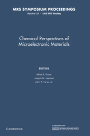 Chemical Perspectives of Microelectronic Materials