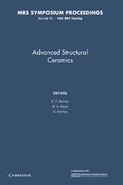 Advances in Structural Ceramics