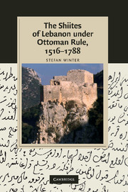 The Shiites of Lebanon under Ottoman Rule, 1516–1788