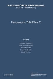 Ferroelectric Thin Films X