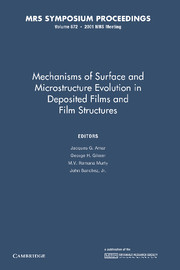 Mechanisms of Surface and Microstructure Evolution in Deposited Films and Film Structures