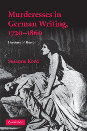 Murderesses in German Writing, 1720–1860