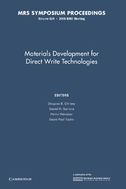 Materials Development for Direct Write Technologies