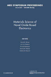 Materials Science of Novel Oxide-Based Electronics
