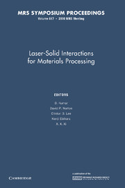 Laser-Solid Interactions for Materials Processing