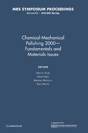 Chemical-Mechanical Polishing 2000 – Fundamentals and Materials Issues