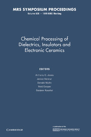 Chemical Processing of Dielectrics, Insulators and Electronic Ceramics