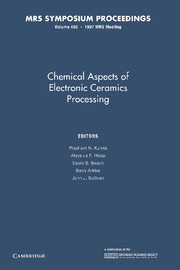 Chemical Aspects of Electronic Ceramics Processing