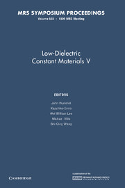 Low-Dielectric Constant Materials V