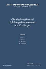 Chemical-Mechanical Polishing – Fundamentals and Challenges