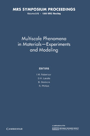 Multiscale Phenomena in Materials – Experiments in Modeling