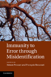 Immunity to Error through Misidentification