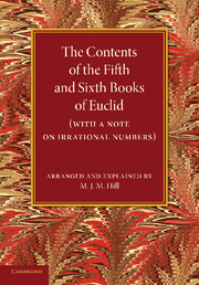 The Contents of the Fifth and Sixth Books of Euclid