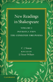 New Readings in Shakespeare