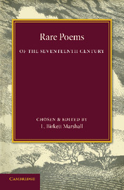 Rare Poems of the Seventeenth Century