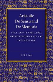 De sensu and De memoria
