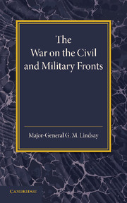 The War on the Civil and Military Fronts