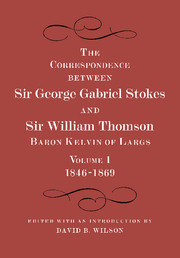 The Correspondence between Sir George Gabriel Stokes and Sir William Thomson, Baron Kelvin of Largs